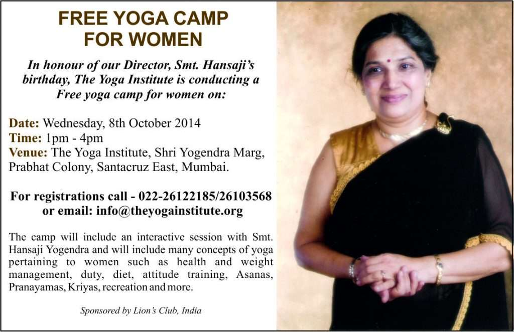 Free Yoga Camp for women
