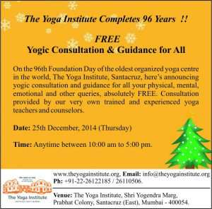 96th Foundation Day The Yoga Institute