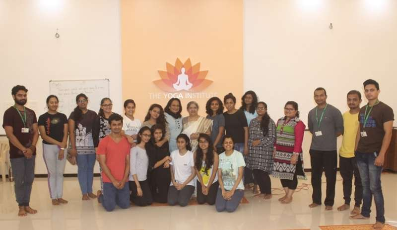 Mithibai College B.A. Philosophy Students at The Yoga Institute