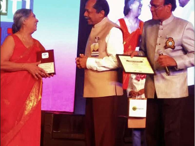 The selfless achievements of Yog Guru Smt Hansaji is being honoured by rotary international
