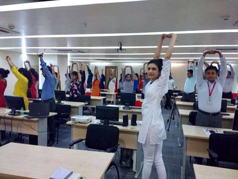 Celebrating International Day of Yoga at Axis securities