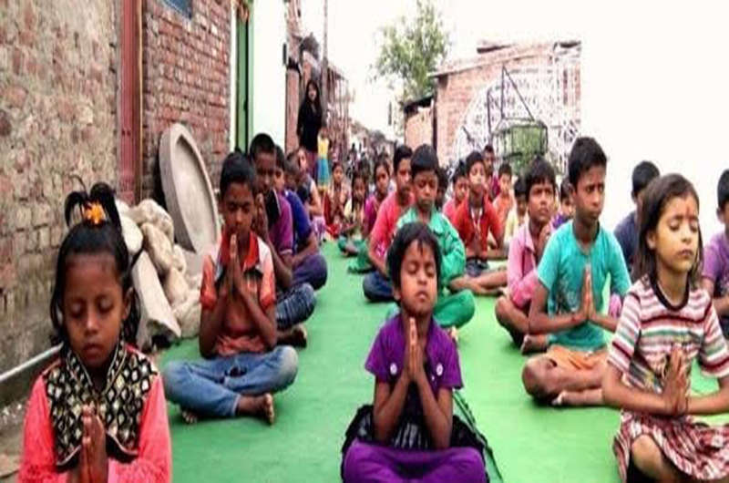 Yoga for oppressed people (slum kids)