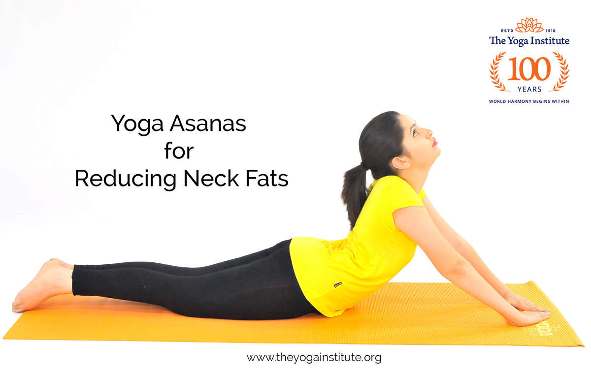 Yoga asanas for reducing neck fats