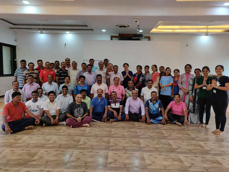 BMC Officials and Educators celebrating 4th International Day of Yoga