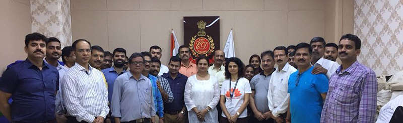Enforcement Directorate celebrating 4th International Day of Yoga with The Yoga Institute
