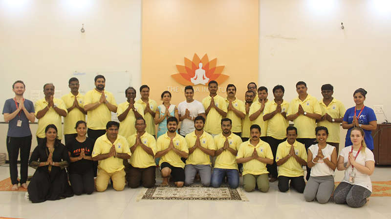 The Commissioner of Customs (GEN) Air Cargo begin their day at The Yoga Institute