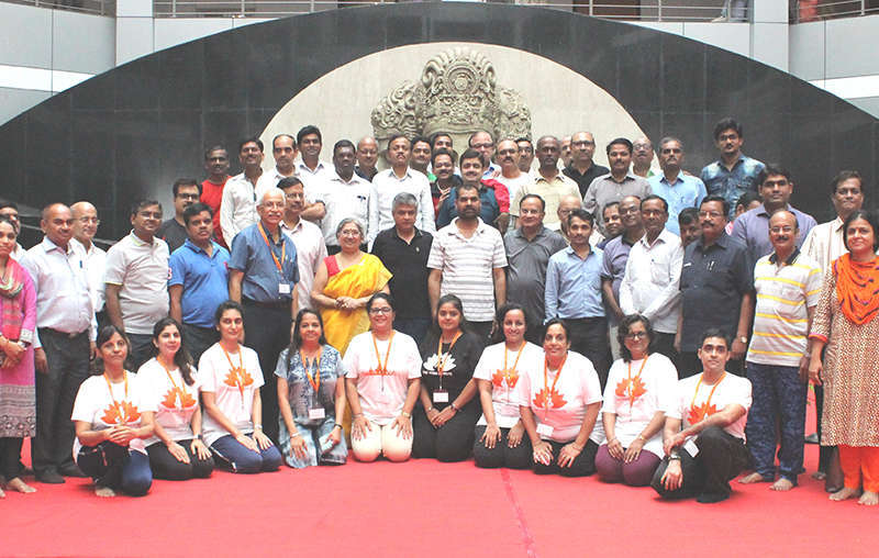 The Yoga Institute team at the Mantralaya